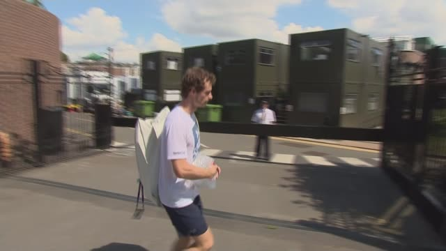 Johanna Konta and Andy Murray through to quarter finals ENGLAND London Wimbledon EXT Andy Murray along through gate Johanna Konta towards