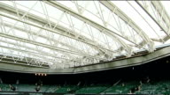 New roof on Centre Court ENGLAND London Wimbledon INT New roof over Centre Court at the All England Club closed