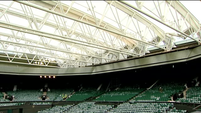 New roof on Centre Court Roof over Centre Court