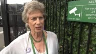 Women's semifinals / Johanna Konta loses to Venus Williams All England Club EXT Virginia Wade interview SOT