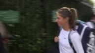 Women's semifinals / Johanna Konta loses to Venus Williams ENGLAND London Wimbledon All England Club EXT Johanna Konta along and into Wimbldon...