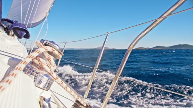 SLO MO Winch of a sailing sailboat