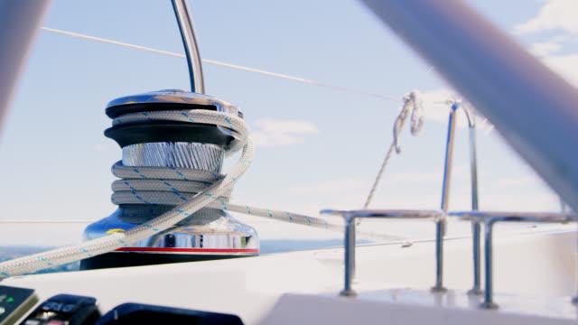 MS-Winch von einem Segelboot segeln