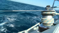 HD SLOW MOTION: Winch On The Deck Of Sailboat