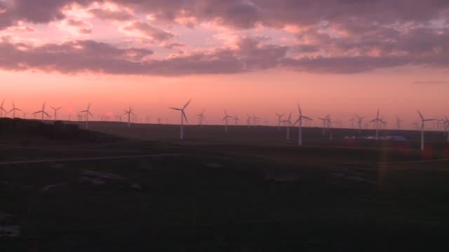 Wind farm near village