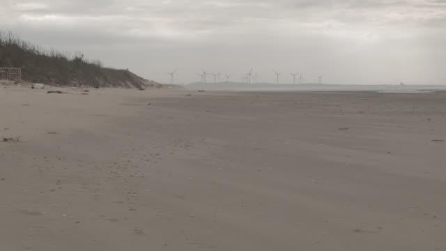 Wind Farm, power generator, coastal beach in Taiwan