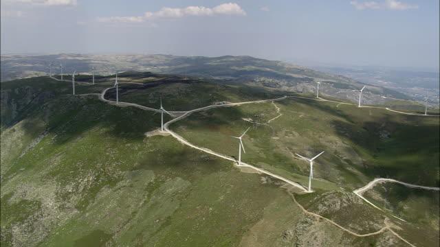 AERIAL WS Wind farm / Serra do Alvao, Vila Real, Portugal