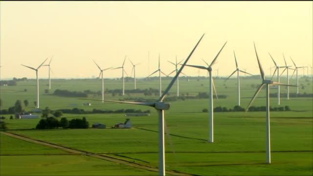 WGN Wind Farms in Central Illinois the morning after a large storm and tornados hit parts of the state on June 23 2015