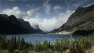 Wind patterns on mountain lake, Lake ST. Mary, Glacier, NP, MT