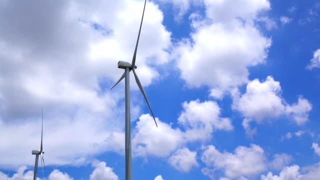 Wind turbine and cloud sky