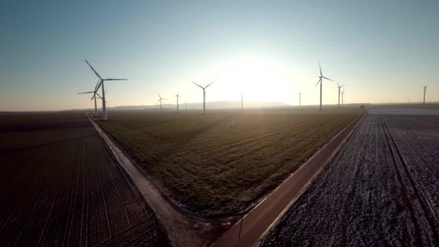 AERIAL : Wind Turbine Farm