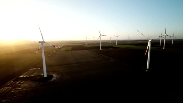 AERIAL: Wind Turbine Farm