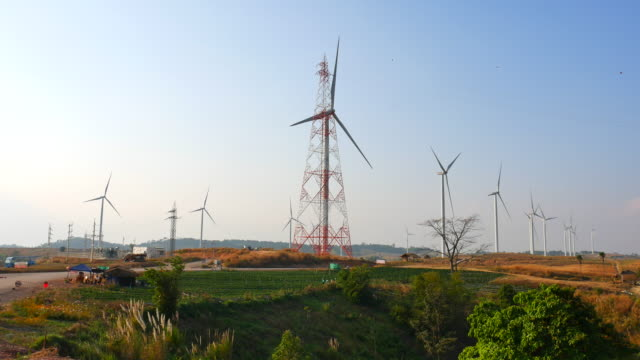 Wind Turbine in Wind farm, renewable energy