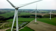 Wind Turbines Aerial