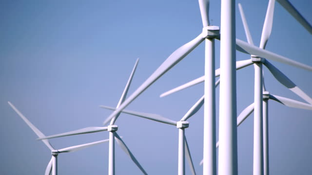 Wind Turbines against clear sky