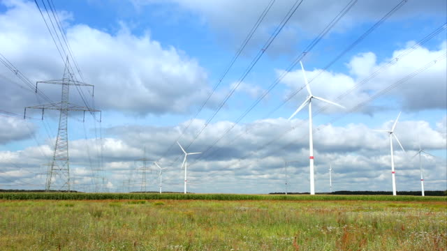 Wind turbines and High Voltage Towers