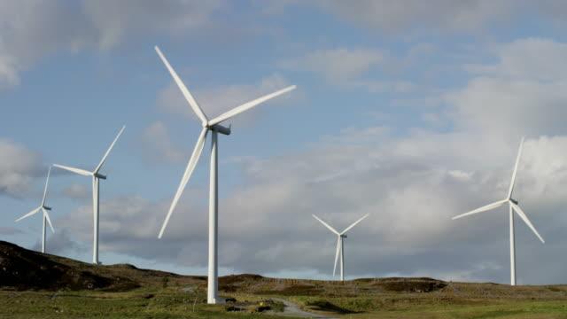 Wind Turbines generating renewable power in Scotland