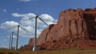 CGI wind turbines in Monument Valley