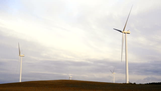 Wind turbines in the Bourgogne region of France