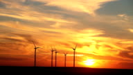 Wind Turbines Kansas Sunset