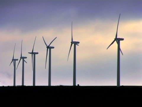 Wind turbines producing clean energy