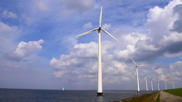 Wind turbines with sailboat