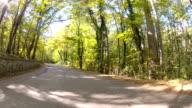 winding mountain road, GoPro