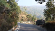 Winding roads and small villages in the mountains near Darjeeling