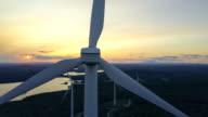Windmolens tijdens zonsondergang