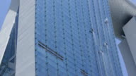 WS Window cleaners cleaning windows on Marina Bay Sands Hotel