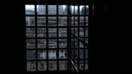A window looks out onto the Glasgow School of Art. Available in HD.