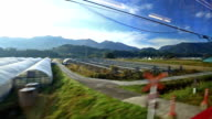 Window view from Beppu to Yufuin by japan train