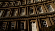 Windows line the Royal Crescent in Bath England. Available in HD.