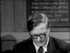 Sir William Penney and Sir Edwin Plowden interviewed ENGLAND London Westminster Church House INT Sir William Penney United Kingdom Atomic Energy...