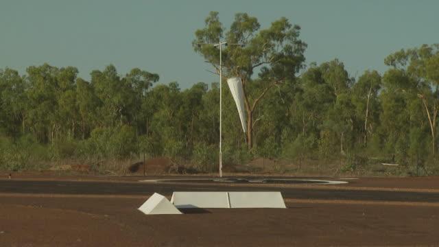 Windsock at tropical airbase, Australia
