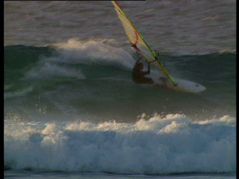 Windsurfer rides big wave Western Australia