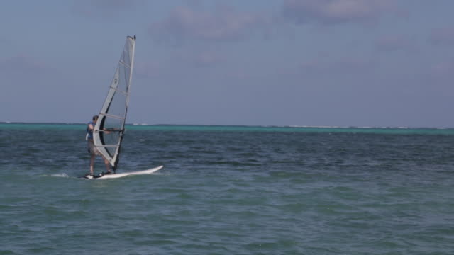 Windsurfer sails in Belize