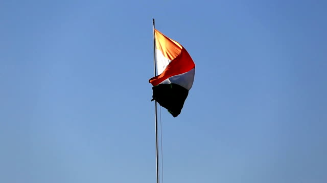 Windige indische Nationalflagge (Tricolor)