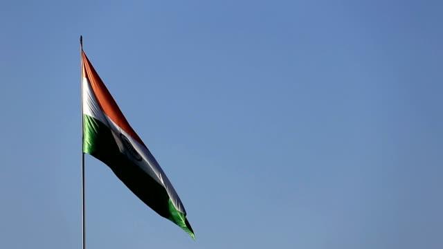 Winderige Indiase nationale vlag (Tricolor)