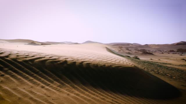 Windy sand dunes