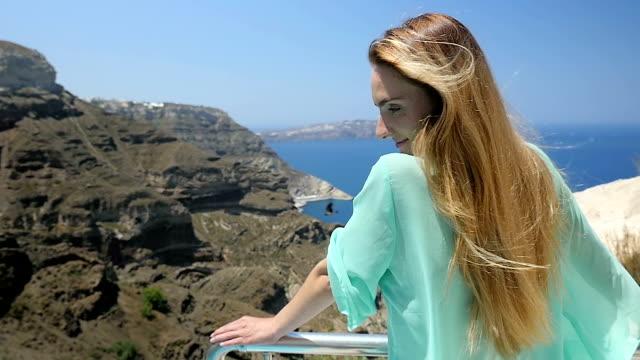 Windy sunny day & Santorini