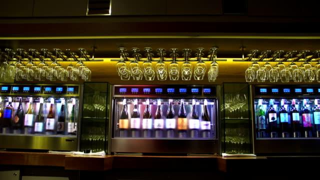 wine cooler in restaurant