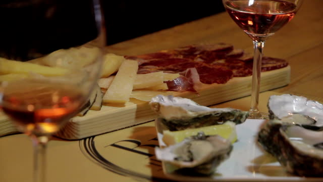 wine oysters