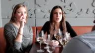 Wine toasting at restaurant