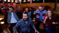 Winning team at the bar