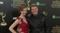 Winsor Harmon and Ashlyn Pearce at the 2014 Daytime Emmy Awards at The Beverly Hilton Hotel on June 22 2014 in Beverly Hills California