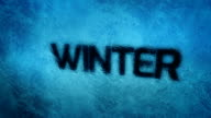 Winter, animated 3D Text