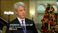 Health Secretary announces public health campaign London INT Andrew Lansley MP interview SOT advice to me is very clear the time to do this is to...
