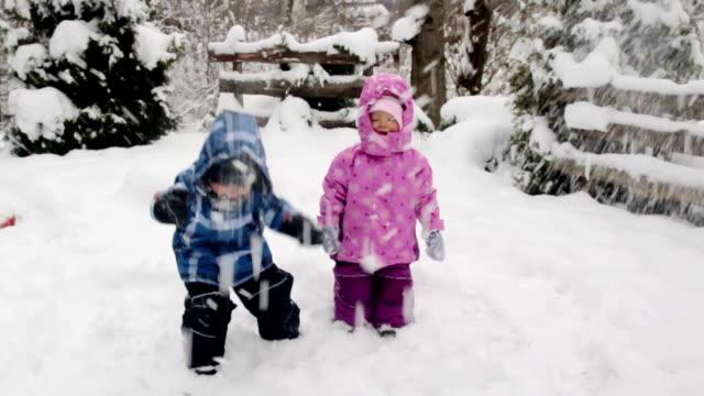 Winter kids montage