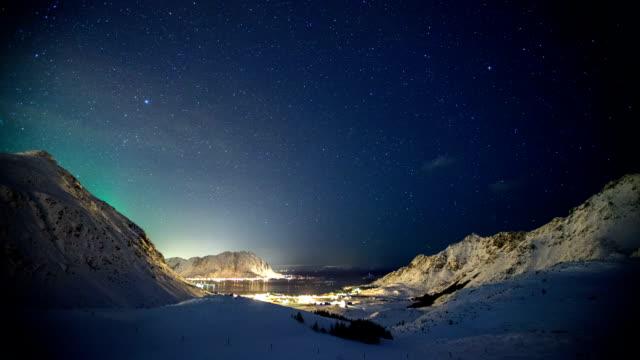 TIME LAPSE: Winter Landscape Aurora